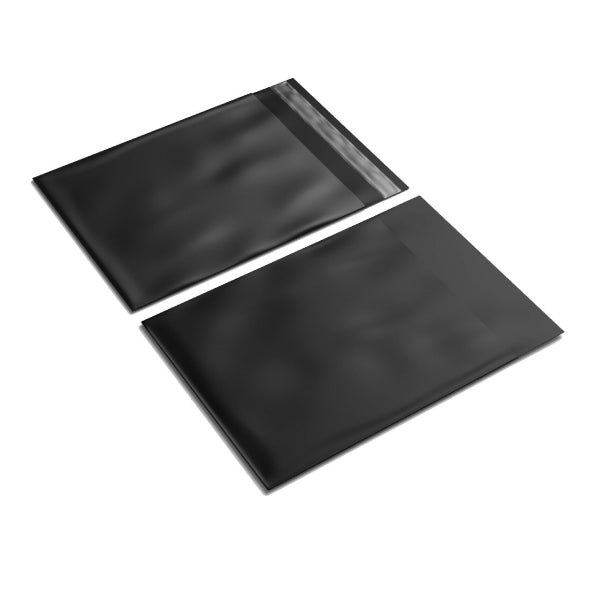 350mm x 480mm+ 40mm Black Poly Mailer Plastic Mailing Satchel Courier Shipping Bag
