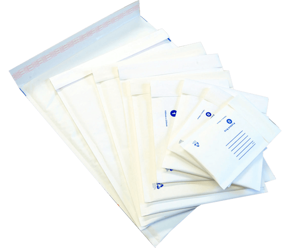 Bubble Padded Bag Mailer White Printed Kraft Cushion Envelope 235mm x 350mm