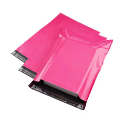 350mm x 480mm+ 40mm Pink Poly Mailer Plastic Mailing Satchel Courier Shipping Bag