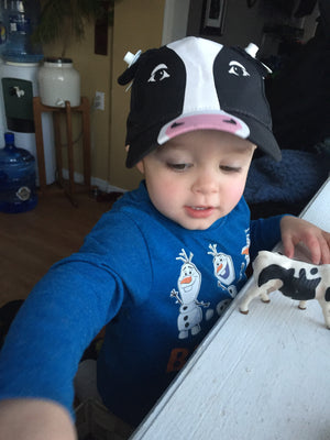 Brenan with Cow Cap