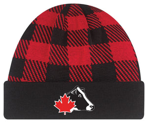 Red Plaid Winter Toque