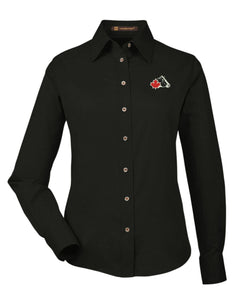 Ladies' Easy-Care Dress Shirt - Black
