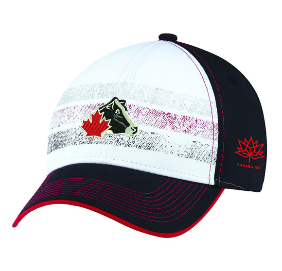 Distressed Stripe Cap - CANADA 150