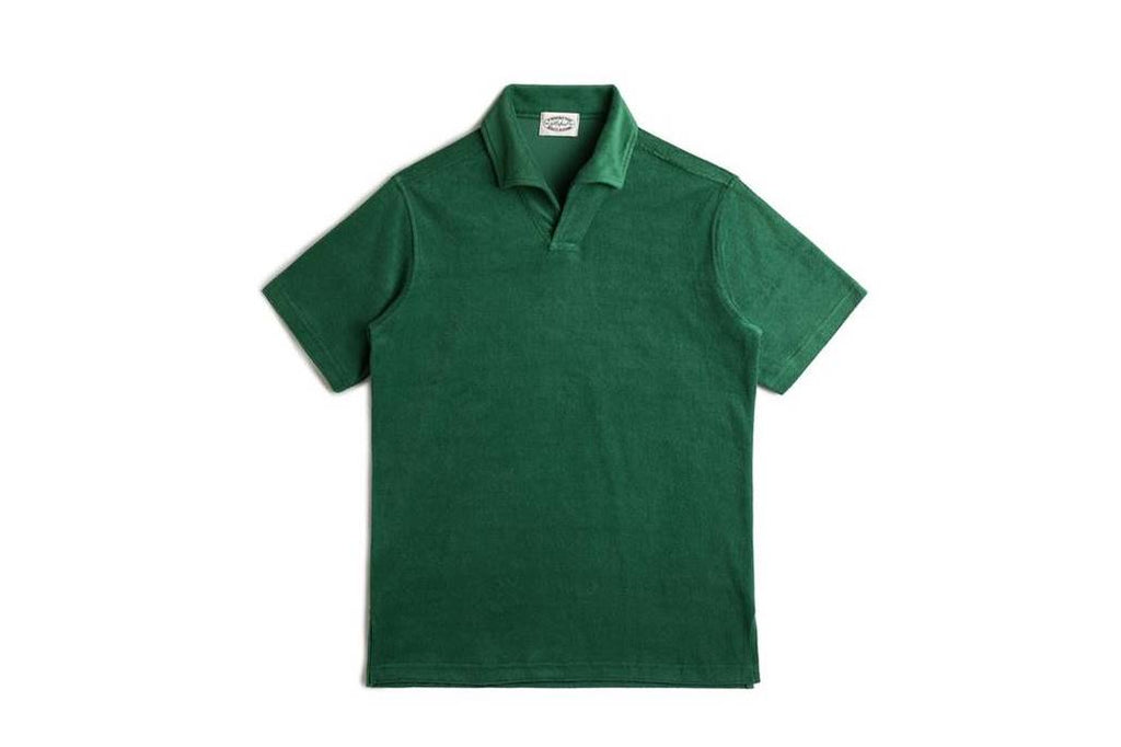 TERRY COTTON POLO SHIRTS