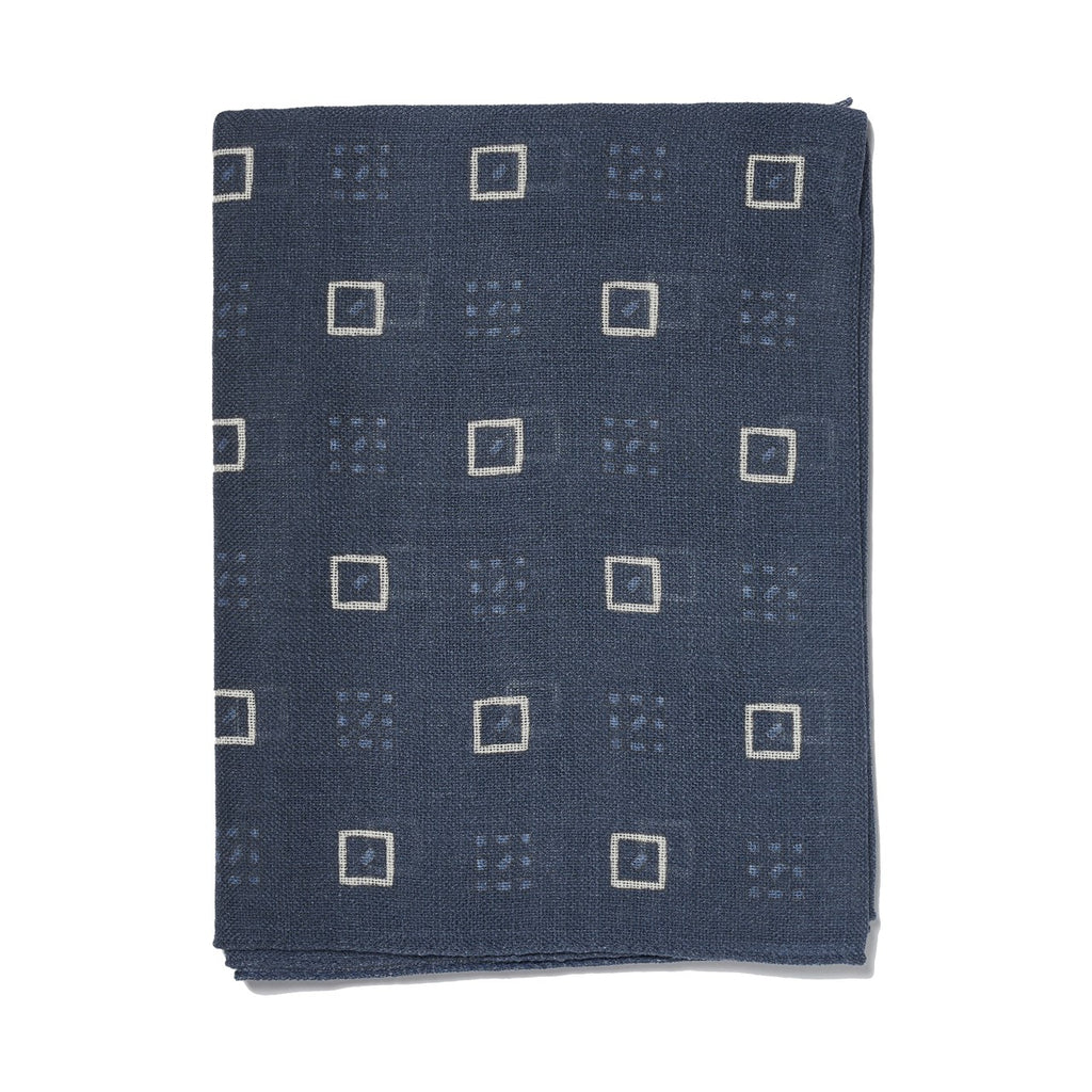 NAVY SQUARE SCARF