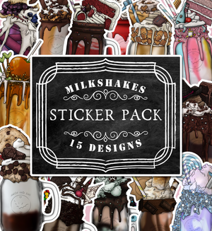 RPG Classes Milkshakes Die-Cut Sticker Pack