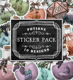 Potion Die-Cut Sticker Pack