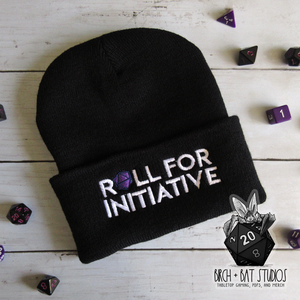 Roll for Initiative Embroidered Beanie
