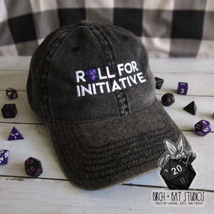 Roll For Initiative Vintage Cotton Twill Cap