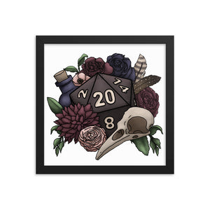 Necromancer D20 Framed Poster