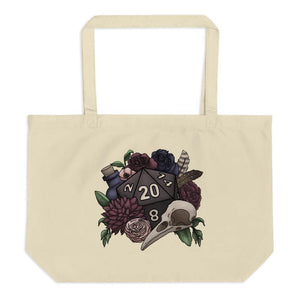 Necromancer D20 Oversized Tote Bag