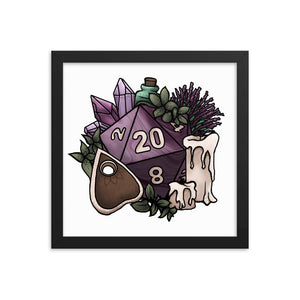 Witchy D20 Framed Poster