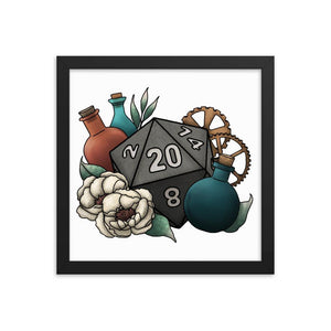 Artificer Class D20 Framed Poster