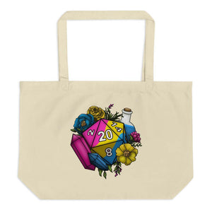 Pansexual Pride D20 Oversized Tote Bag