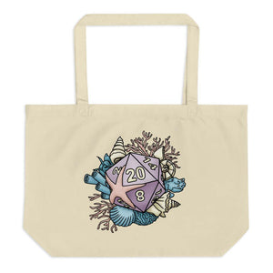 Mermaid D20 Oversized Tote Bag