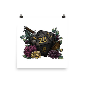 Assassin D20 Matte Poster