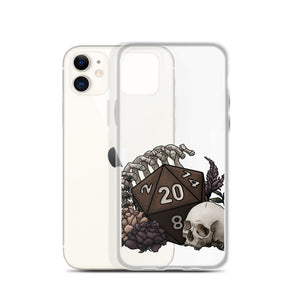 Skeleton D20 iPhone Case - D&D Tabletop Gaming