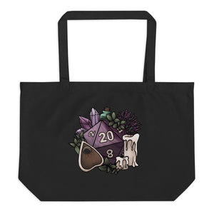 Witchy D20 Oversized Tote Bag
