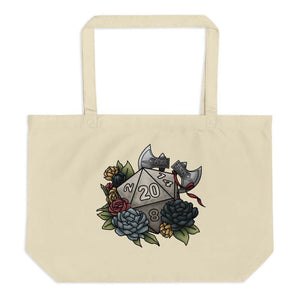 Barbarian Class D20 Oversized Tote Bag