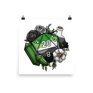 Aromantic Pride D20 Semi-Gloss Poster