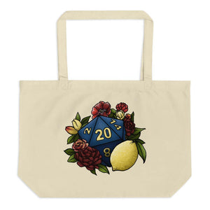 Marsala Lemon D20 Oversized Tote Bag