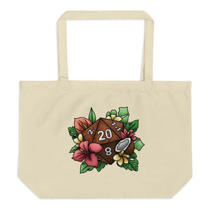 Tropical D20 Oversized Tote Bag