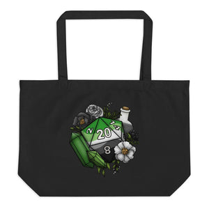 Aromantic Pride D20 Oversized Tote Bag