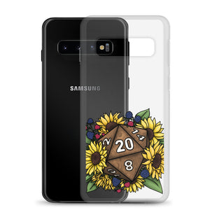 Sunflower D20 Samsung Case - D&D Tabletop Gaming