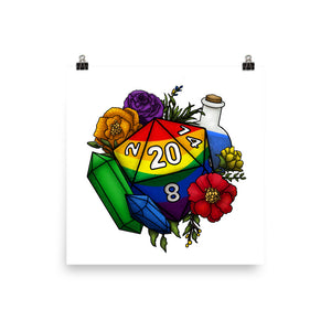 Rainbow Gay Pride D20 Matte Poster