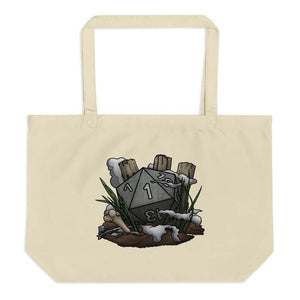 Graveyard Natural 1 Oversized Tote Bag