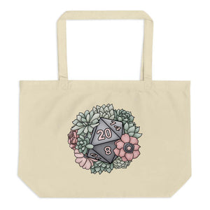 Succulent D20 Oversized Tote Bag