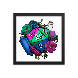 Polysexual Pride D20 Framed Poster
