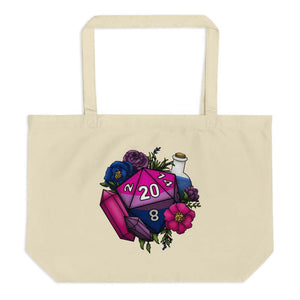 Bisexual Pride D20 Oversized Tote Bag