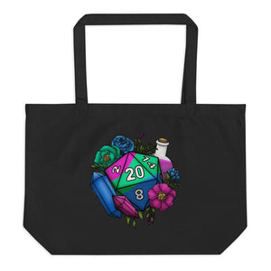 Polysexual Pride D20 Oversized Tote Bag