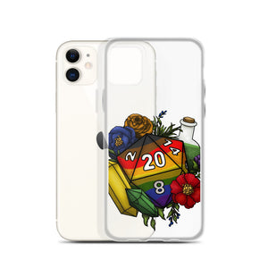 Inclusive Rainbow Pride D20 iPhone Case - D&D Tabletop Gaming