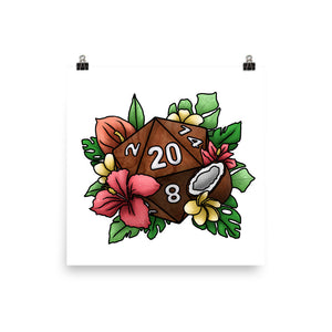 Tropical D20 Semi-Gloss Poster