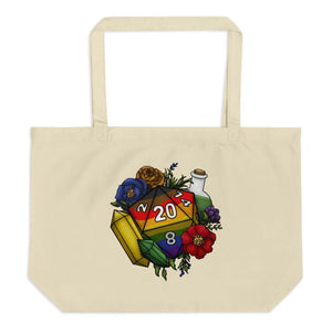 Inclusive Rainbow Pride D20 Oversized Tote Bag