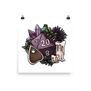 Witchy D20 Semi-Gloss Poster