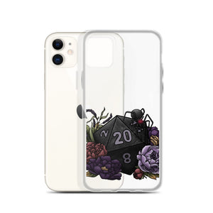 Drow D20 iPhone Case - D&D Tabletop Gaming