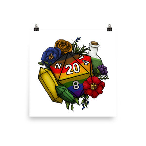 Inclusive Rainbow Pride D20 Semi-Gloss Poster