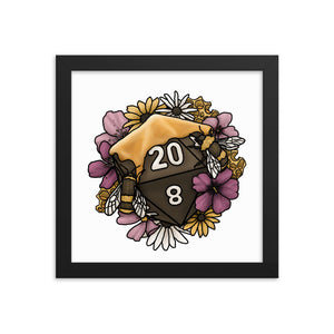 Honeycomb D20 Framed Poster
