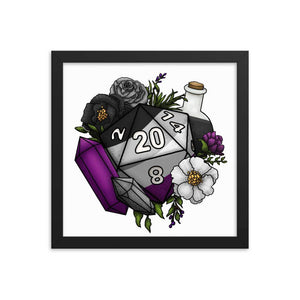 Asexual Pride D20 Framed Poster
