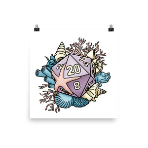 Mermaid D20 Matte Poster