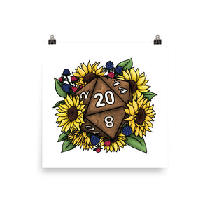Sunflower D20 Matte Poster