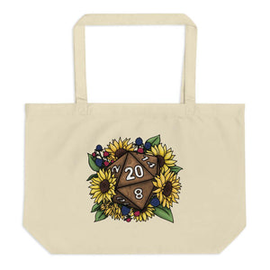 Sunflower D20 Oversized Tote Bag