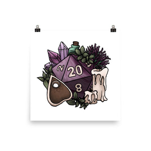 Witchy D20 Matte Poster