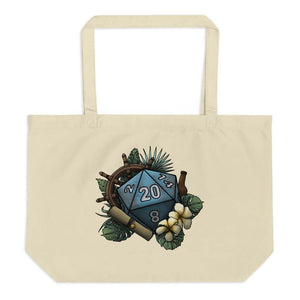 Seafaring D20 Oversized Tote Bag