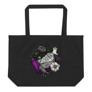 Asexual Pride D20 Oversized Tote Bag