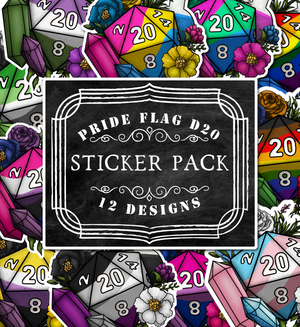 Pride D20s Die-Cut Vinyl Sticker Pack
