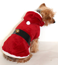 Load image into Gallery viewer, Santa Clause Dog Sweater Coat Wrap, Christmas Holiday Warm Fleece Dog Hoodie